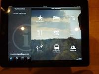 Visit Hamilton app - home screen capture on IPad